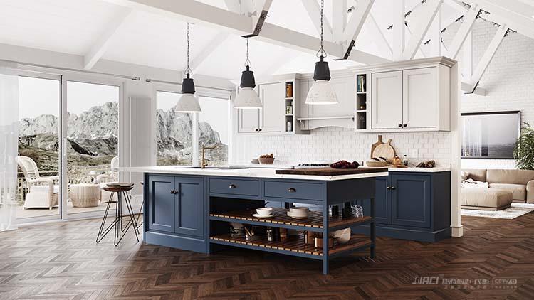 效果圖#別墅廚房裝修圖片        別墅專家的設計師建議使用銅水管,既