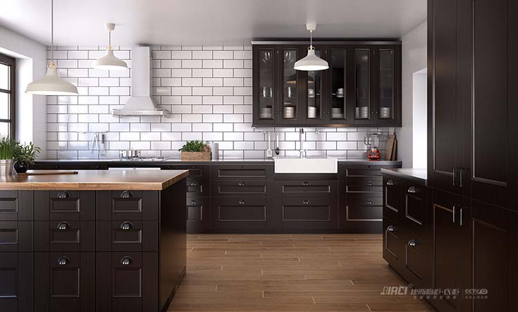 北欧灰?原来灰色橱柜可以这么造| 灰色厨房橱柜效果图#工业风厨房案例
