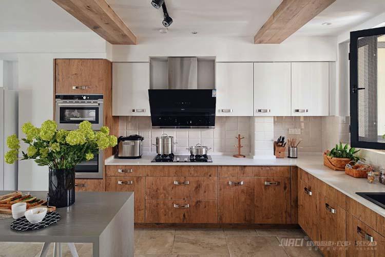 化繁为简的日系木质厨房效果图,美食诞生的宝地!