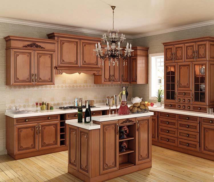 欧式实木橱柜,立体印花设计,大气,超赞.