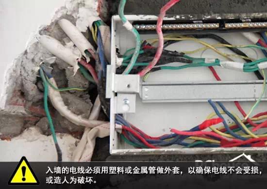 安装的电线必须用塑料或金属管做外套,以免受到人为损坏.