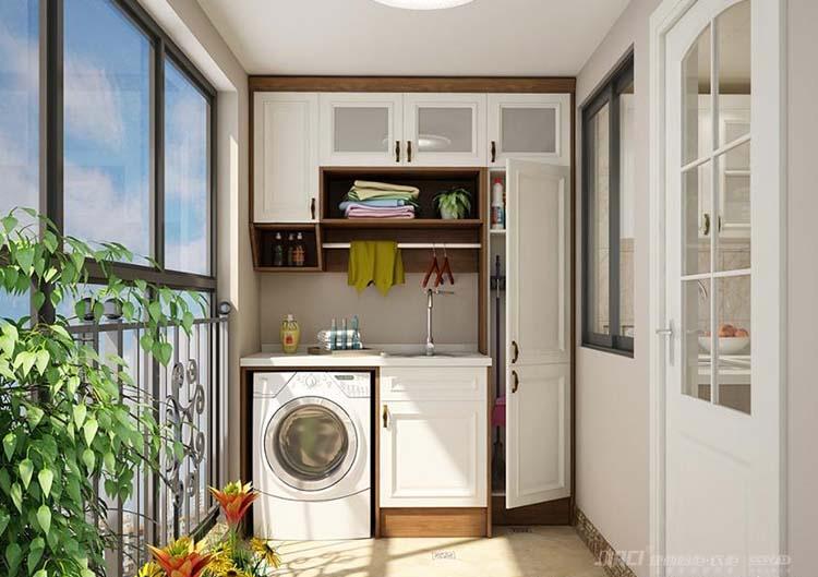 厨房装修案例#橱柜设计效果图  1,阳台厨房设计之通风       由于